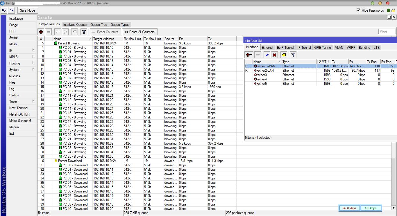 Jasa Setting Mikrotik Memisahkan Bandwidth Browsing dan Download